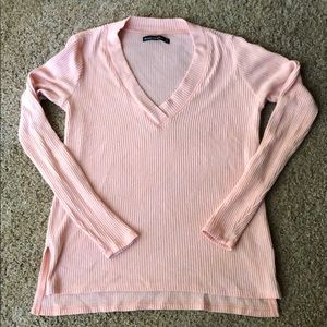Pink Abercrombie and Fitch V-neck